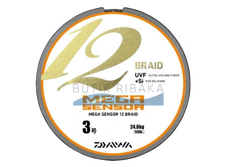 Плетеный шнур Daiwa Megasensor 12 Braid #0.8