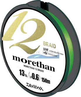 Плетеный шнур Daiwa Morethan 12 Braid #0.6